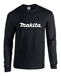 Long-Sleeve Heavy Cotton Makita T-Shirt by Gildan